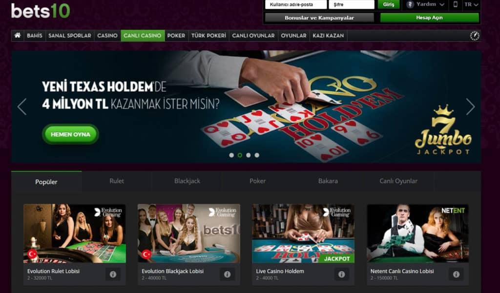 Bets10 Casino Giris Adresi