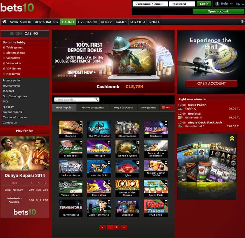 Bets10 Casino Oyunlari