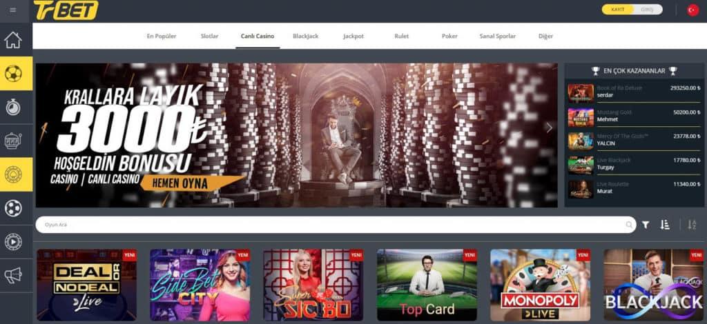En iyi Turkce Casino Sitesi Trbet Canlı Casino Sayfasi